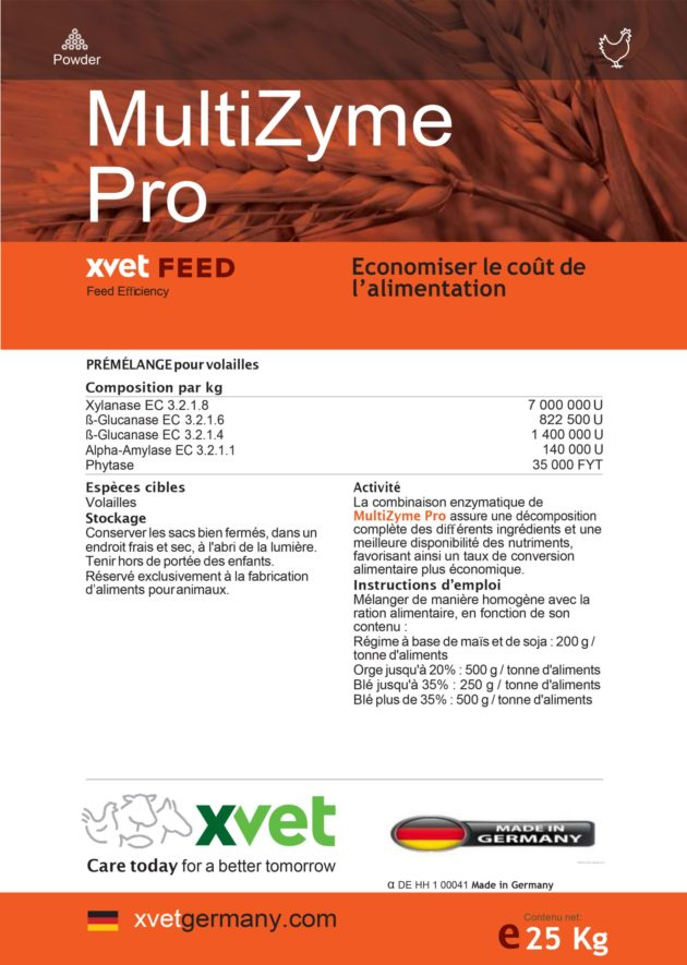 MultiZyme Pro : Additif pour volailles